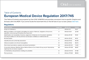 Eu Mdr Table Of Contents Full Text Of Regulation 2017 745