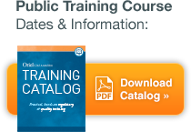 Public Training Course Dates & Information - Download Catalog