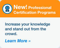 New! Professional Certification Programs